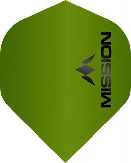 Mission Logo 100 Std. Matt Green Dartflight | Darts Warehouse
