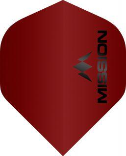 Mission Logo 100 Std. Matt Red Dartflight | Darts Warehouse