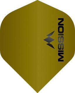 Mission Logo 100 Std. Matt Yellow Dartflight | Darts Warehouse