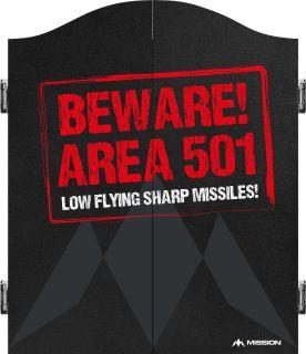 Mission Area 501 Beware Red Cabinet | Darts Warehouse