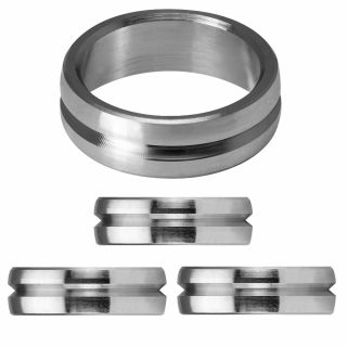 Mission F-Lock Titanium Silver Rings 2 mm   Darts Warehouse