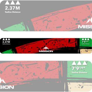 Mission Throw Line Oche Sticker Double Top | Darts Warehouse