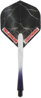 Thunder & Lightning Black Flight Shaft Set | Darts Warehouse