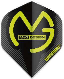 Mega Standard MvG Black Winmau Flights | Darts Warehouse