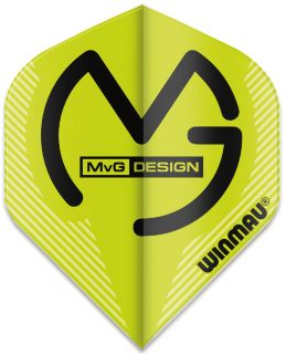 Mega Standard MvG Green Winmau Flights | Darts Warehouse