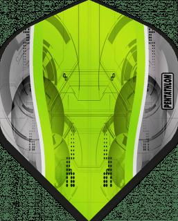 Pentathlon Silver Edge Green | McKicks Flights | Darts Warehouse