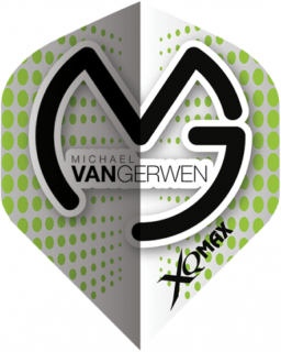 Michael van Gerwen Dartflights | White Green Dots | Darts Warehouse