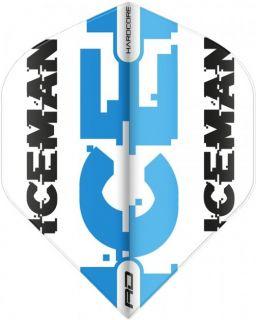 Gerwyn Price Flight Std. Iceman White Blue | Darts Warehouse