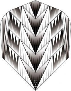 Shot Branded Std.6 Flight Tribal Weapon White | Darts Warehouse