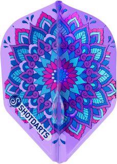 Shot L-Style Mandala Purple Std. | Darts Warehouse