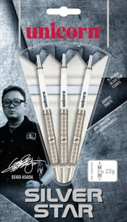 Silverstar 80% Seigo Asada Unicorn Darts | Dartswarehouse.nl
