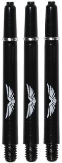 Shot! Eagle Claw Solid Black Medium Shaft | Darts Warehouse