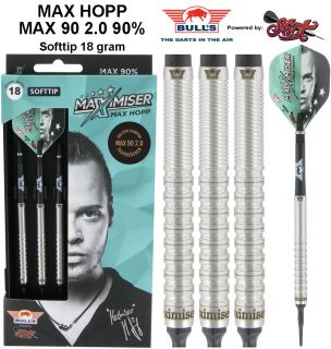 Max90 2.0 Max Hopp 90% 18 gram Softtip Bull's | Darts Warehouse