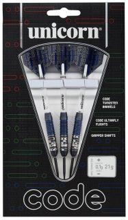 Code 80% Black Blue Unicorn Darts   Darts Warehouse