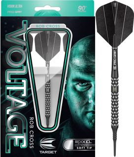 Rob Cross Voltage 90% Black Pixel Target Softtip Darts   DartsWarehouse