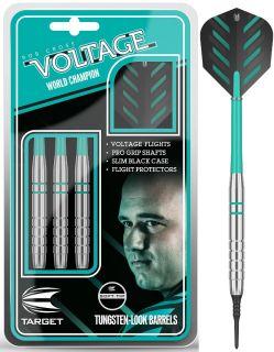 Softtip Rob Cross Voltage Silver Brass 18 gram   Darts Warehouse