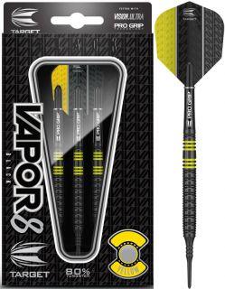 Vapor8 Black Yellow 80% Softtip Darts | DartsWarehouse