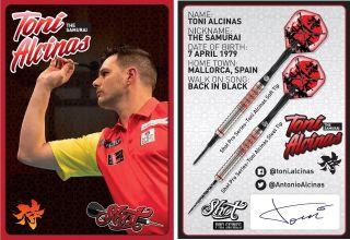 Toni Alcinas The Samurai Signcard | Darts Warehouse