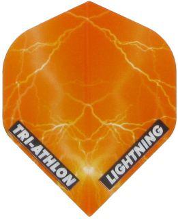 Triathlon Lightning Std. Clear Orange   Darts Warehouse