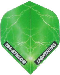 Triathlon Lightning Std. Clear Green   Darts Warehouse