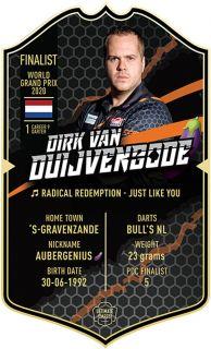 Ultimate Card Kim Huybrechts 37x25 cm   Darts Warehouse