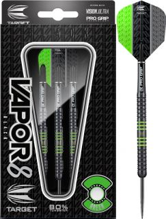 Vapor8 Black Green 80% | Target Dartpijlen | DartsWarehouse